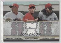 Aroldis Chapman, Tony Cingrani, Johnny Cueto #/36