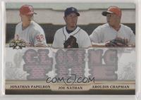 Jonathan Papelbon, Joe Nathan, Aroldis Chapman #/36