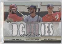 Jayson Werth, Bryce Harper, Gio Gonzalez /36