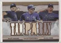 Matt Moore, Evan Longoria, Alex Cobb /27
