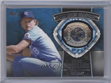 2014 Topps Update Series - World Series Champions Manufactured Rings #WSR-BS - Bret Saberhagen