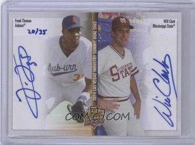 2014 Upper Deck Las Vegas Industry Summit Dual Sigs - [Base] #LV2-TC - Frank Thomas, Will Clark /35