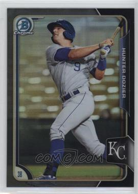 2015 Bowman - Chrome Prospects - Asia Exclusive Black Refractor #BCP56 - Hunter Dozier