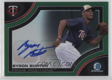 2015 Bowman Chrome - Prime Position Autographs - Green Refractor #PPA-BB - Byron Buxton /99