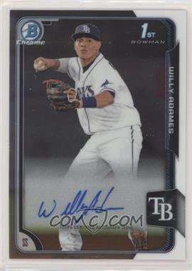 2015 Bowman Chrome - Prospects Autographs #BCAP-WA - Willy Adames