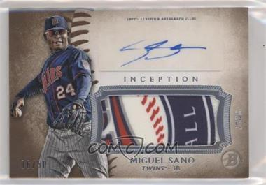 2015 Bowman Inception - Autographed Jumbo Patches #IAP-MS - Miguel Sano /50