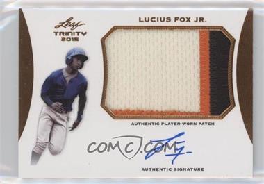 2015 Leaf Trinity - Patch Autographs - Bronze #PA-LF1 - Lucius Fox Jr.