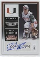 David Thompson (White Jersey) #/15