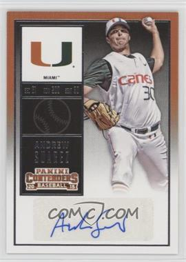 2015 Panini Contenders - College Ticket #31.1 - Andrew Suarez (White Jersey, Blue Ink)