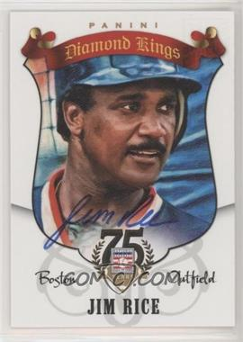 2015 Panini Cooperstown - 2014 HOF Diamond Kings ReCollection Collection #93 - Jim Rice /50