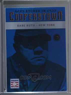 2015 Panini Cooperstown - Etched in Cooperstown - Gem Sapphire #4 - Babe Ruth /10