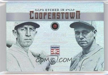 2015 Panini Cooperstown - Etched in Cooperstown Dual - Gem Ruby #24 - Eddie Collins, Jimmie Foxx /15