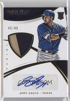 Rookie Material Autos - Joey Gallo #45/49