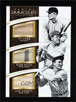 Ty Cobb, Babe Ruth, Lou Gehrig #/25