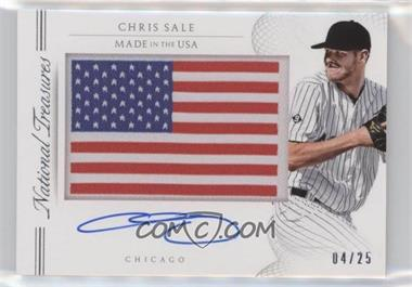 2015 Panini National Treasures - Made in #22 - Chris Sale /25