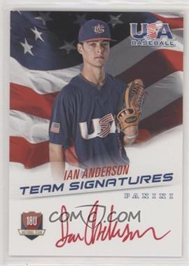 2015 Panini USA Baseball - Box Set 18U National Team - Signatures Red Ink [Autographed] #18U-IA - Ian Anderson /25