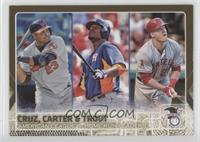 Chris Carter, Mike Trout, Nelson Cruz /2015