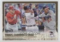 Mike Trout, Nelson Cruz, Miguel Cabrera /2015