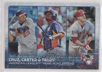 Chris Carter, Mike Trout, Nelson Cruz