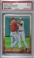 Manny Machado (With Mike Trout) [PSA 9 MINT]
