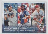 Chris Carter, Mike Trout, Nelson Cruz