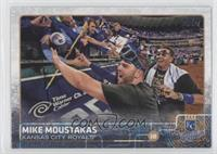 Mike Moustakas (Celebrating with Fans)