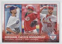 Johnny Cueto, Clayton Kershaw, Adam Wainwright