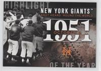 New York Giants Win the Pennant