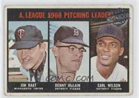 Jim Kaat, Denny McLain, Earl Wilson [Good to VG‑EX]