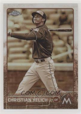 2015 Topps Chrome - [Base] - Sepia Refractor #48 - Christian Yelich