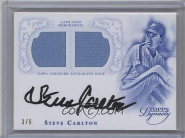 2015 Topps Dynasty - Autographed Dual Relic Greats #ADRG-SC2 - Steve Carlton /5