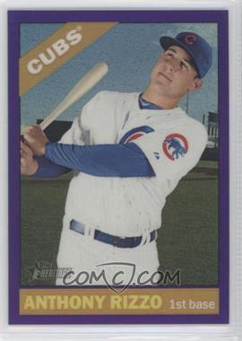2015 Topps Heritage - [Base] - Hot Box Chrome Purple Refractor #THC-110 - Anthony Rizzo