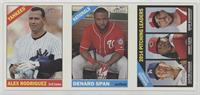 Alex Rodriguez, Denard Span, Clayton Kershaw, Johnny Cueto, Adam Wainwright