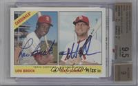 Lou Brock, Matt Adams /25 [BGS 9.5]