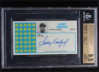 Sandy Koufax [BGS9.5GEMMINT] #7/10