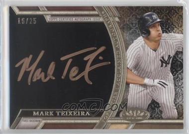 2015 Topps Tier One - Acclaimed Autographs - Rose Gold Ink #AA-MT - Mark Teixeira /25