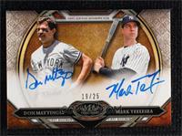 Mark Teixeira, Don Mattingly #/25