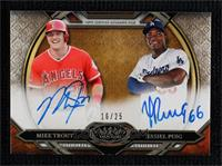 Mike Trout, Yasiel Puig #/25