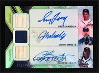 John Smoltz, Chipper Jones, Greg Maddux #/18