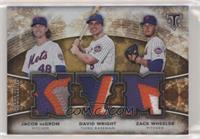 Jacob deGrom, Zack Wheeler, David Wright #/9