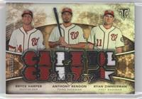 Ryan Zimmerman, Bryce Harper, Anthony Rendon /9