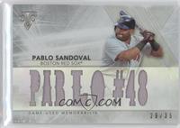 Pablo Sandoval #/36