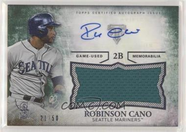 2015 Topps Triple Threads - Unity Autographed Jumbo Relics - Emerald #UAJR-RCA - Robinson Cano /50