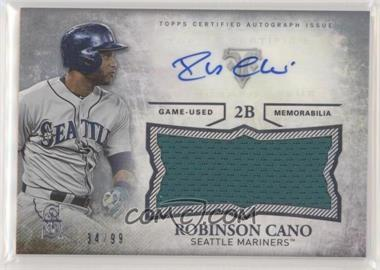 2015 Topps Triple Threads - Unity Autographed Jumbo Relics #UAJR-RCA - Robinson Cano /99