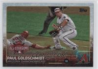 Paul Goldschmidt (Mike Trout Sliding Into Base)