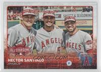 All-Star - Hector Santiago, Mike Trout, Albert Pujols