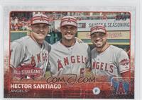 Hector Santiago, Mike Trout, Albert Pujols