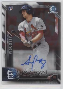 2016 Bowman - Chrome Rookie Autographs #CRA-SP - Stephen Piscotty