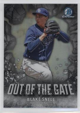 2016 Bowman Chrome - Out of the Gate #OOG-10 - Blake Snell