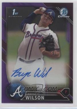 2016 Bowman Draft - Chrome Draft Pick Autographs - Purple Refractor #CDA-BW - Bryse Wilson /250